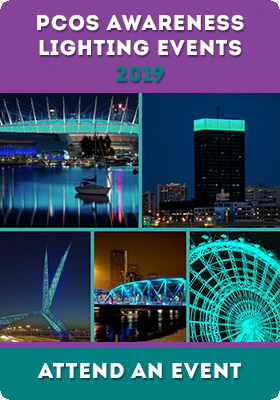 PCOS Awareness Month - Iconic Landmarks Light Up Teal